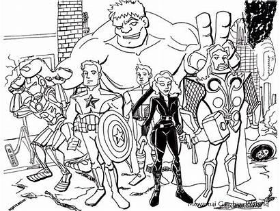 Gambar Avenger Mewarnai Avengers Kartun Untuk Coloring