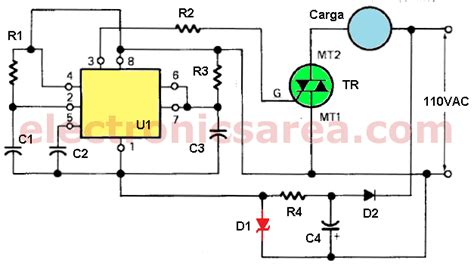 heat using thermistor and triac electronics area
