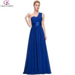 royal blue wedding guest dress grace karin one shoulder royal blue chiffon evening dresses formal dress for wedding guests