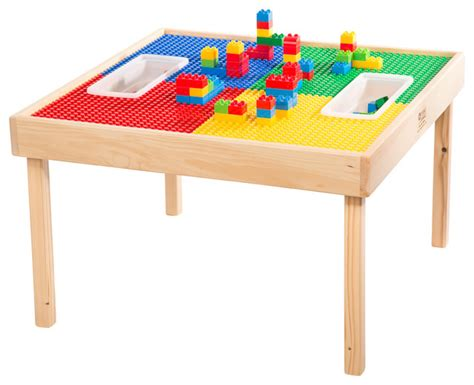 duplo compatible play table with storage bag and optional