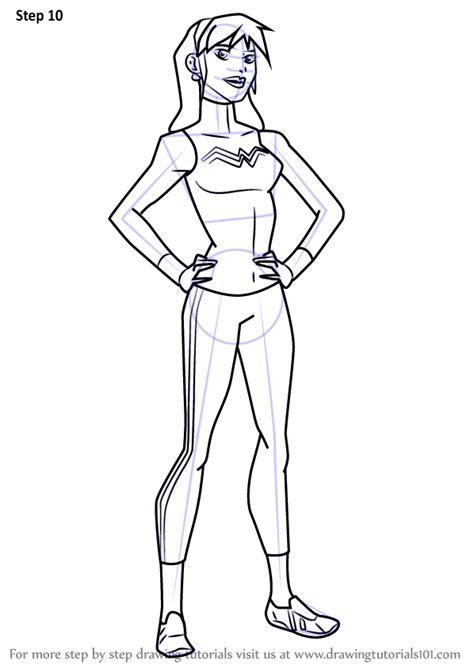 learn   draw  girl  young justice young