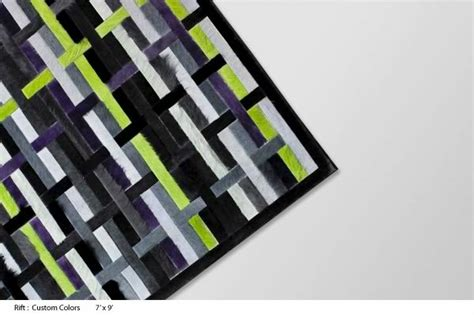 Lime Green And Black Rug by Sterling Cowhide Rug Designs By Kyle Bunting Decoholic