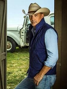 2x Size Chart John Dutton Yellowstone Kevin Costner Blue Cotton Vest