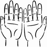 Hands Coloring Pages Anatomy Clipart Place Clipartbest sketch template