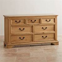 chest of drawers Edinburgh Natural Solid Oak 3 + 4 Chest of Drawers