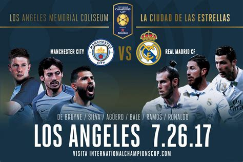 real madrid manchester los angeles  boletos coliseum