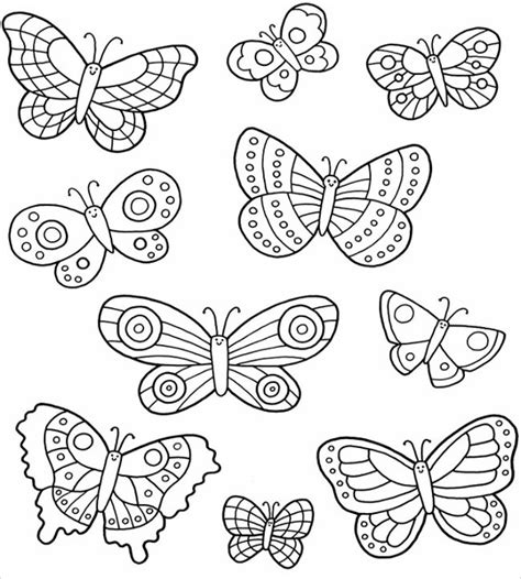 butterfly templates printable crafts colouring