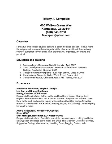 Resume Part Time Employment by Sle Resume Xls Format Lol Resume Sles Cover