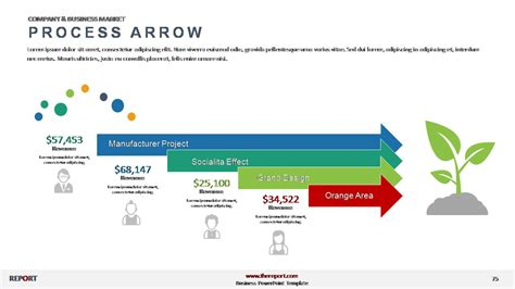 investment project growth tree diagram powerslides