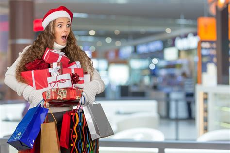 11 stock images of ladies christmas shopping while wearing