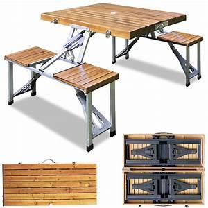 Tisch Klappbar Holz : campingtisch klappbar alu camping set koffertisch picknick ~ A.2002-acura-tl-radio.info Haus und Dekorationen