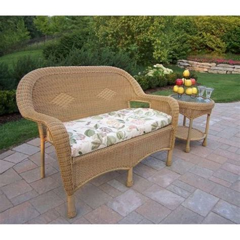 oakland living resin wicker 2 pc loveseat and coffee