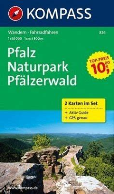 kompass karte pfalz naturpark pfaelzerwald  bl