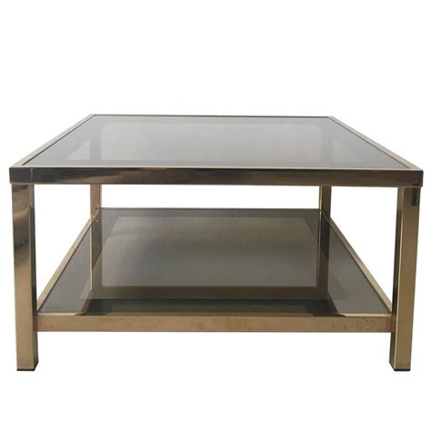 gold rectangle coffee table 23 carat rectangular gold plated coffee table 1960s for