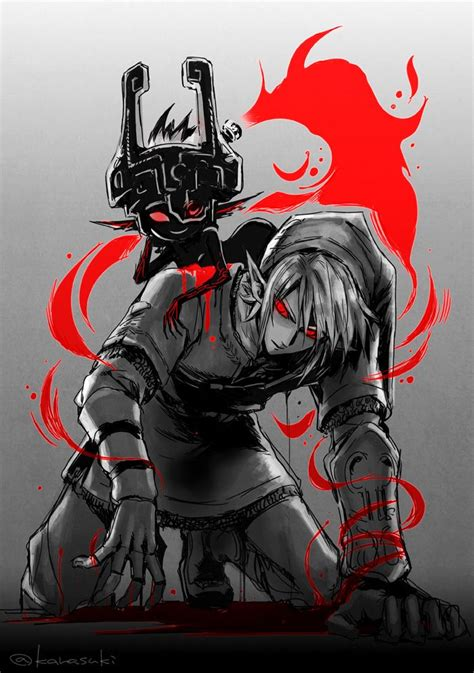 Dark Link And Midna Twilight Princess The Legend Of