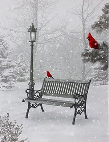 raz   twinkling led lighted cardinal  park scene