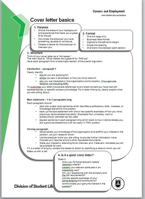 cover    basics  cover letter