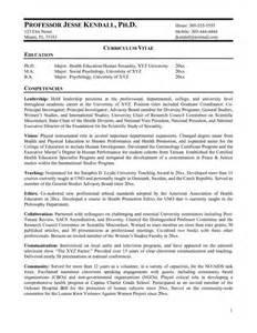 resume assistant professor electronics curriculum vitae college professor professor resume exle professional