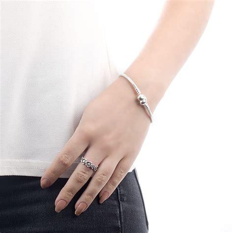 pandora moments heart snake chain charm bracelet