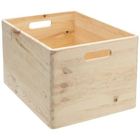 tableau memo cuisine boîte de rangement en bois pin massif 40 x 30 x 24 cm