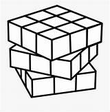 Cube Clipart Sheet Coloring Rubik Rubiks Cartoon Netclipart Ice sketch template
