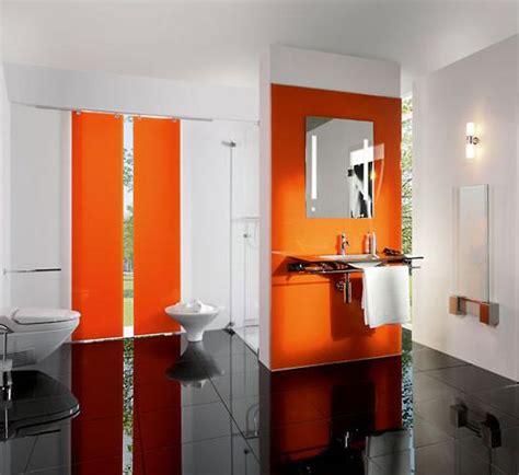 fotos de banos color naranja colores en casa