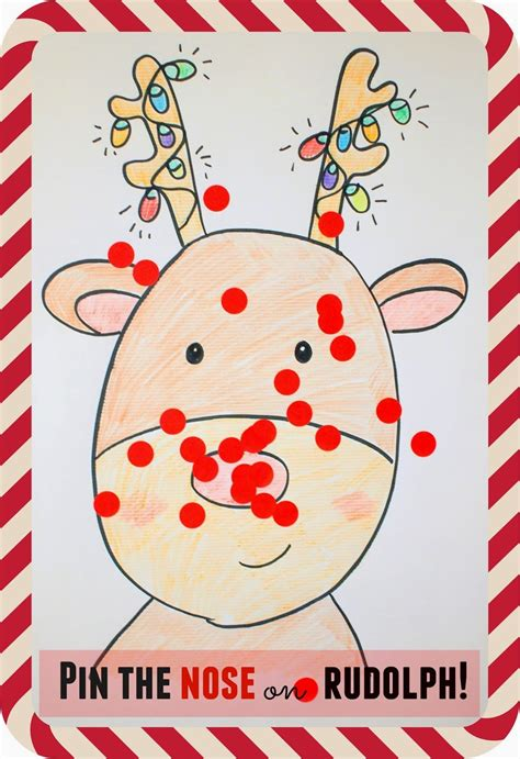 large group preschool christmas activities pin the nose on rudolph holidays special occasions preschool