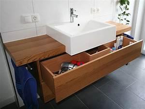 Waschtischunterschrank Für Aufsatzwaschbecken Holz : waschtisch mit unterschrank holz ~ Bigdaddyawards.com Haus und Dekorationen