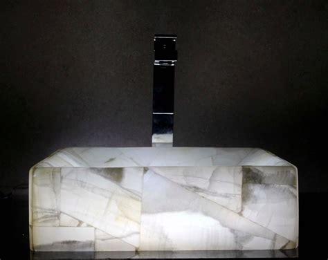 Modern Natural Stone Bathroom Vessel Sink-white Onyx