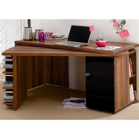 Schreibtisch Nussbaum Schwarz