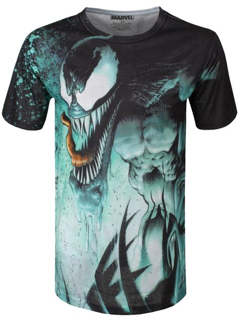 marvel venom splat mens   print  shirt buy