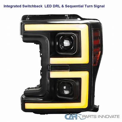 F250 Headlights Switchback Projector Ford Led Sequential