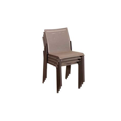 chaise de jardin empilable chaise de jardin toile batyline et structure aluminium