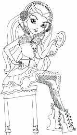 Coloring Ever Raven Queen Vanity Sitting sketch template