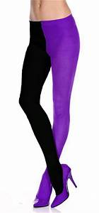 Adult Black/Purple Jester Tights - Circus Ring Master and Clown Costumes