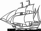 Ship Clipart Clipper Pirate Drawing Coloring Simple Printable Clipartmag sketch template