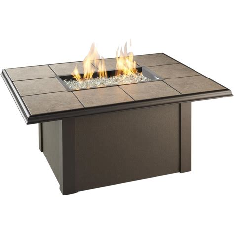 fire pit table sale napa valley 48x36 inch propane fire pit table by outdoor