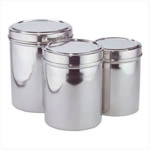Stainless Steel Canister Sets Kitchen Stainless Steel Kitchen Storage Canisters Set Of Three