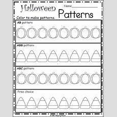 Free Kindergarten Halloween Patterns Worksheet Madebyteachers