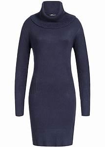 77 Online Shop De : seventyseven lifestyle damen midi kleid rollkragen blau 77onlineshop ~ Markanthonyermac.com Haus und Dekorationen