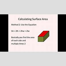 Surface Area Of Rectangular Prisms And Cubes (simplifying Math) Youtube