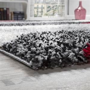 Teppich Rot Schwarz : shaggy geometrisch gemustert grau rot hochflor teppiche ~ Pilothousefishingboats.com Haus und Dekorationen