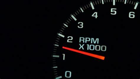 Rpm Gauge Car Engine Reving Rotations Per Minute Stock