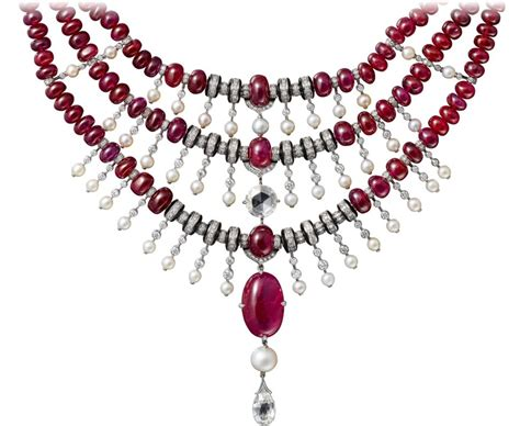 ruby cabochon indian jewellery influences luxury maisons cartier