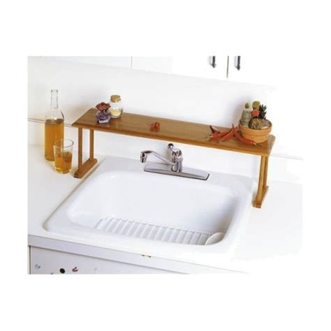 sink shelves kitchen lipper international bamboo the sink shelf target 2276