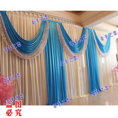 3m 6m royal blue swags sale white wedding backdrop