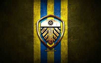 Leeds United Fc Football Yellow Background Efl