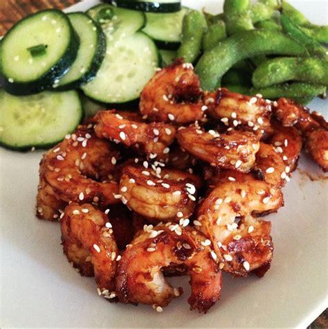 hoisin glazed shrimp  meal   simple throw