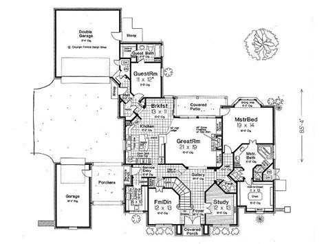 inspiring house plans  courtyard garage photo