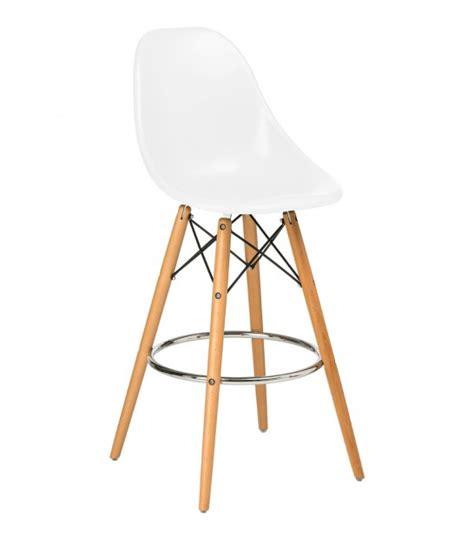 chaise blanche pied en bois chaise haute de bar en bois et similicuir blanc wadiga com
